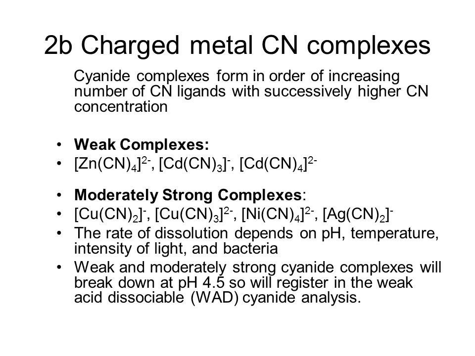 2b Charged metal CN complexes
