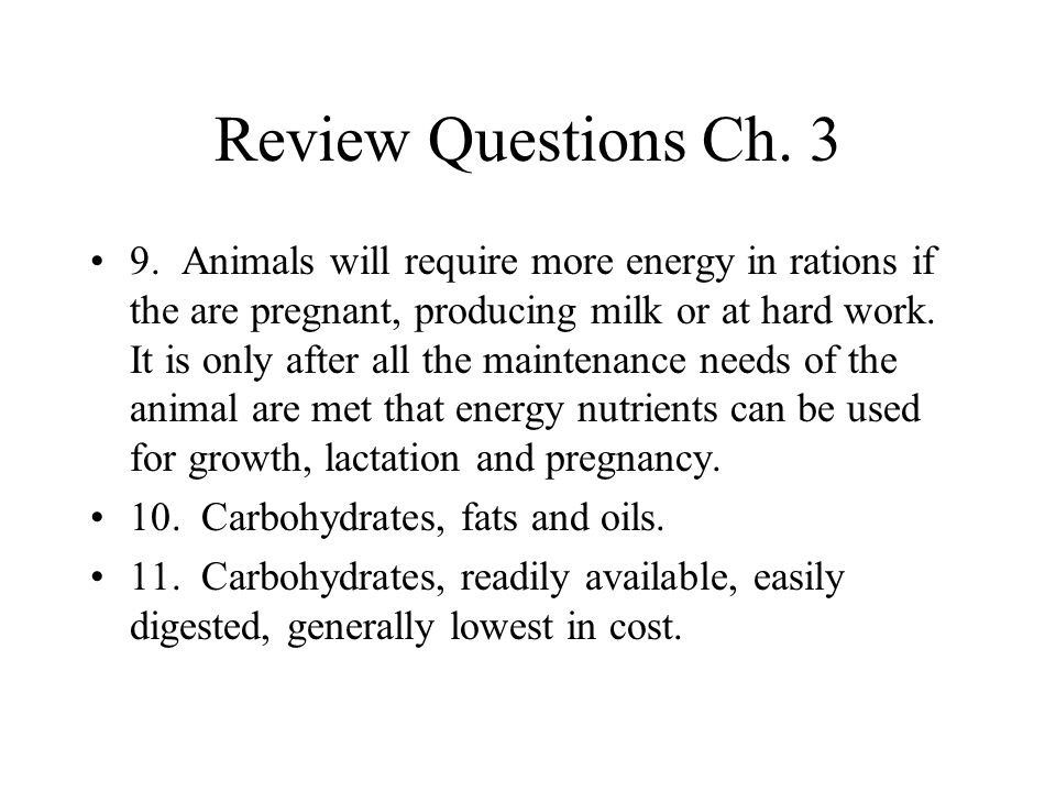 Review Questions Ch. 3