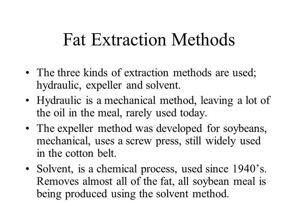 Fat Extraction Methods