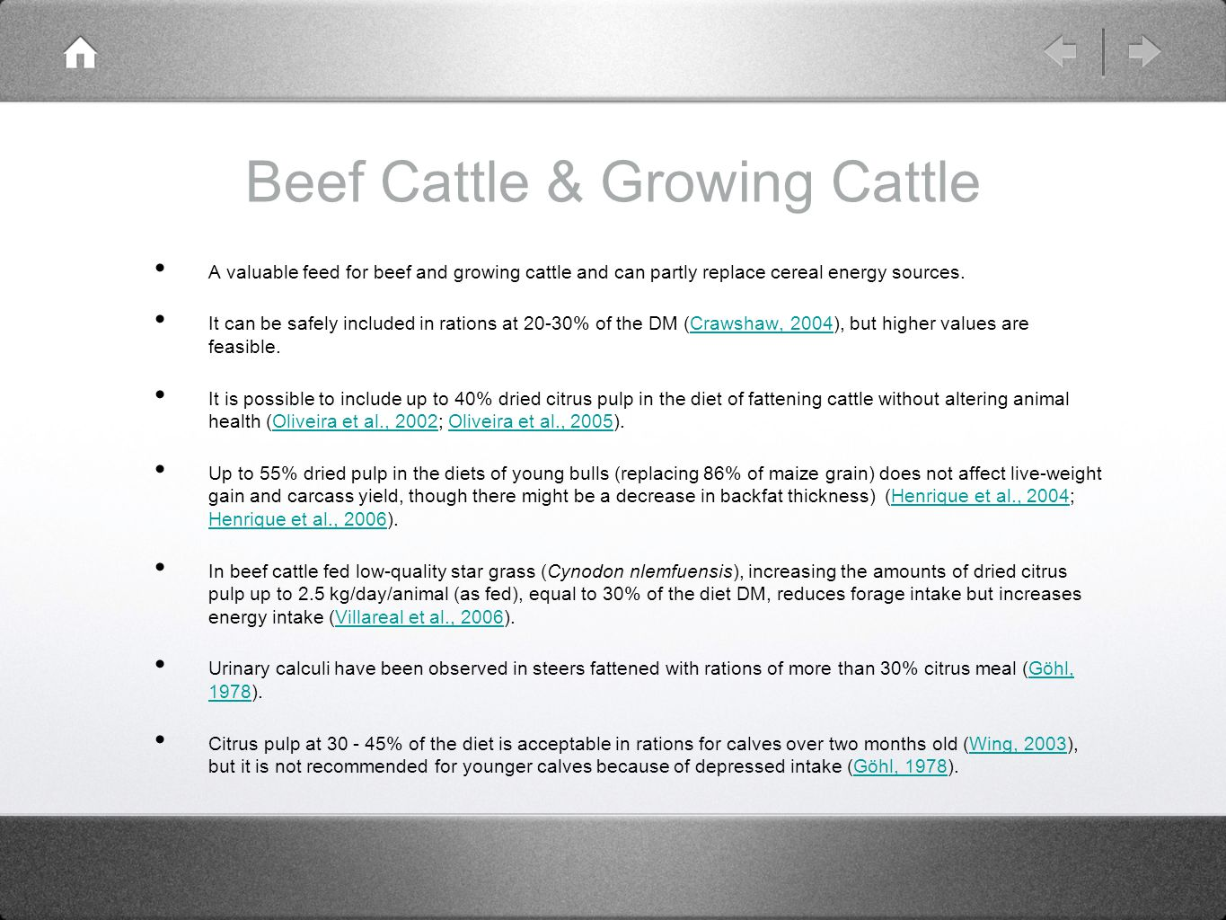 Beef Cattle & Growing Cattle