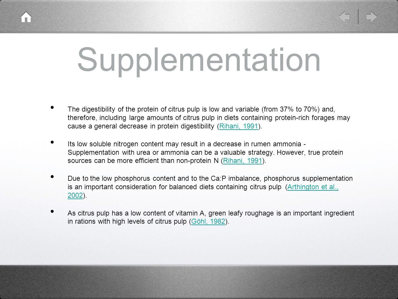 Supplementation