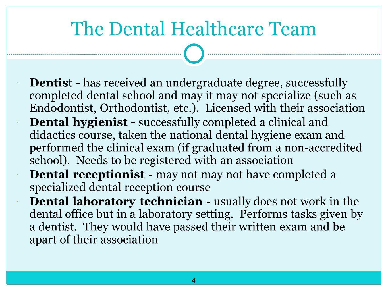 The Dental Healthcare Team