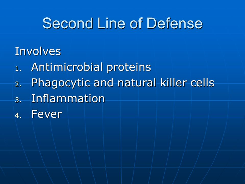 Second Line of Defense Involves Antimicrobial proteins