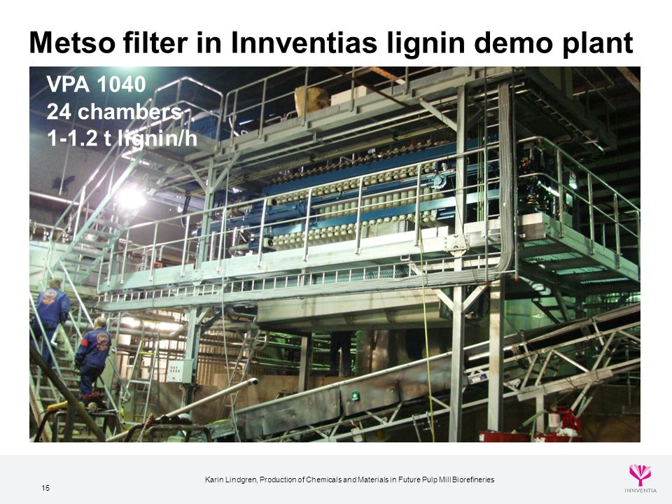 Metso filter in Innventias lignin demo plant
