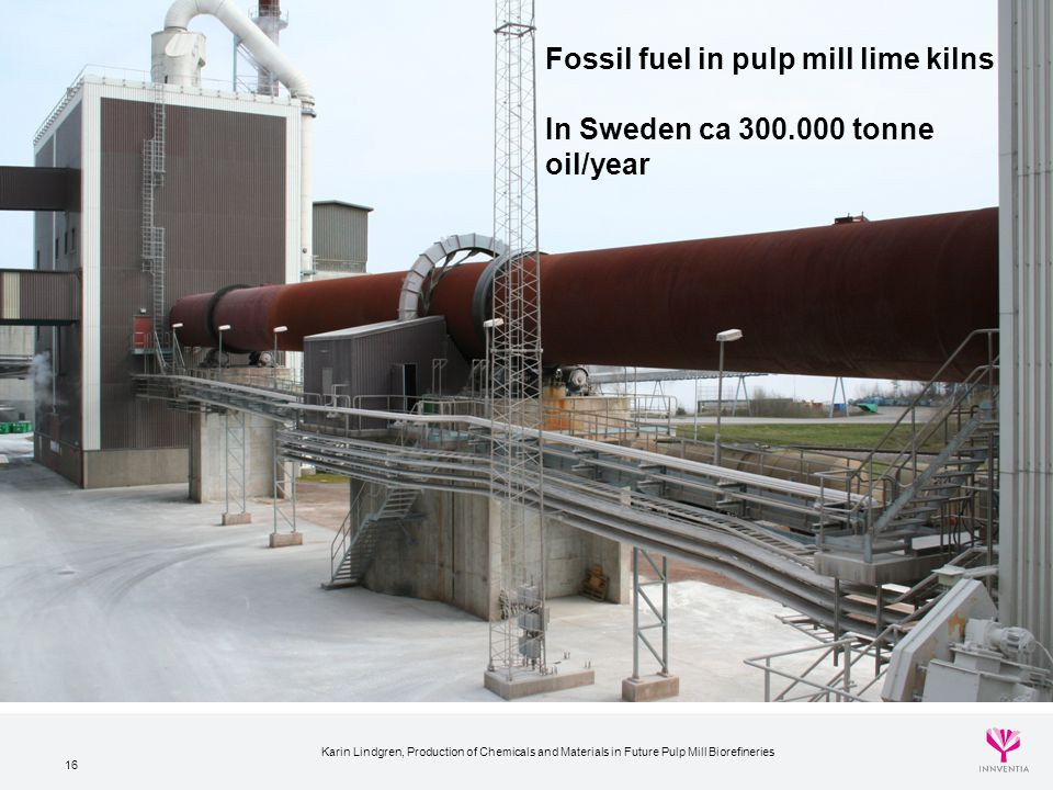 Fossil fuel in pulp mill lime kilns