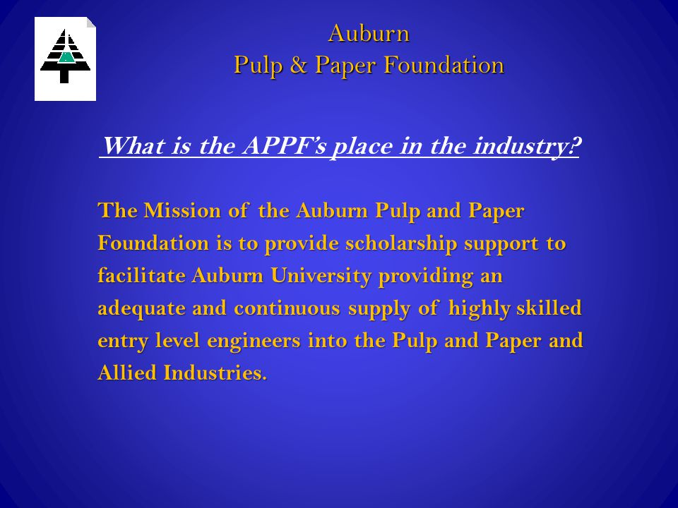 What is the APPF's place in the industry