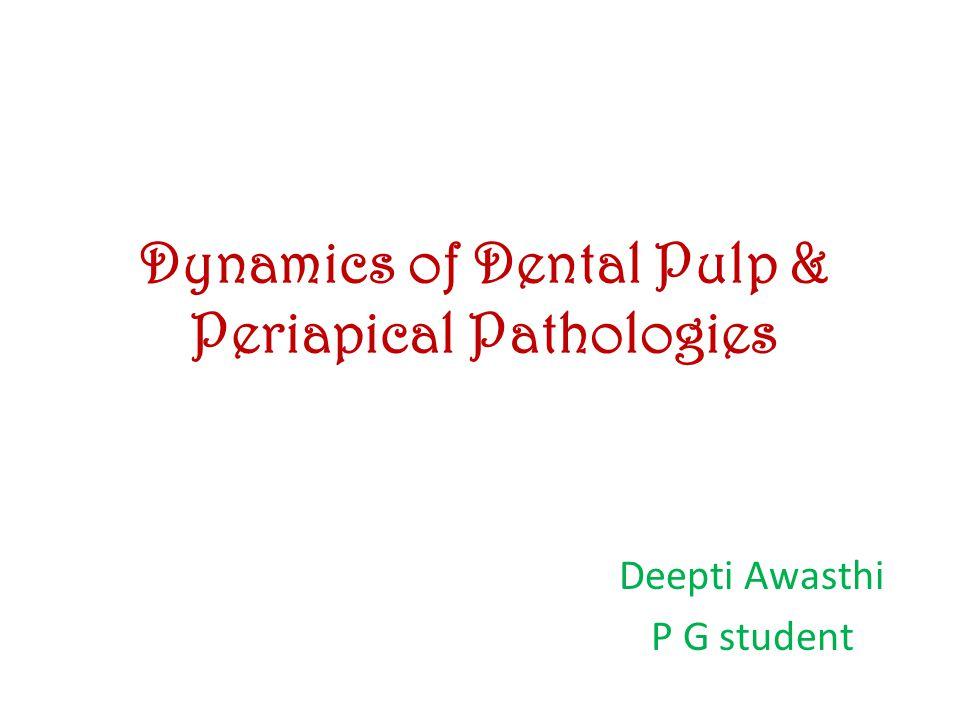 Dynamics of Dental Pulp & Periapical Pathologies