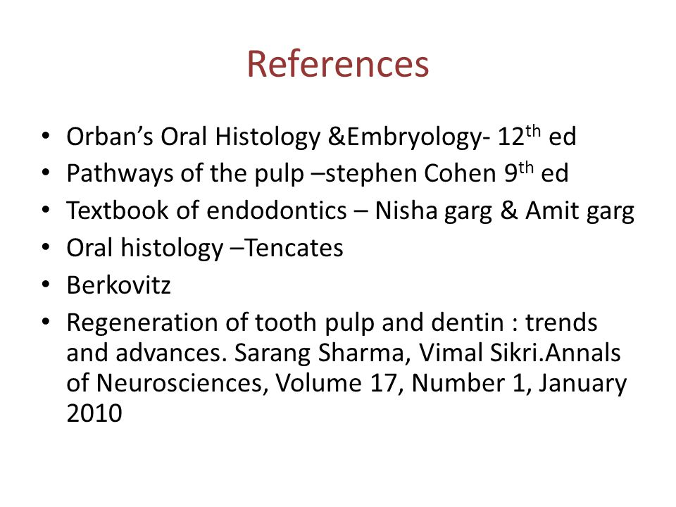 References Orban's Oral Histology &Embryology- 12th ed
