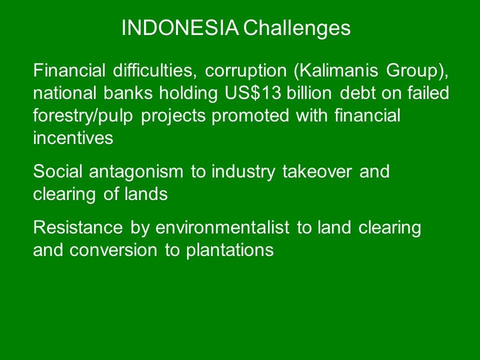 INDONESIA Challenges