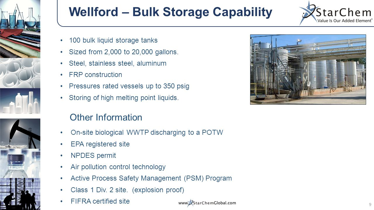 Wellford – Bulk Storage Capability