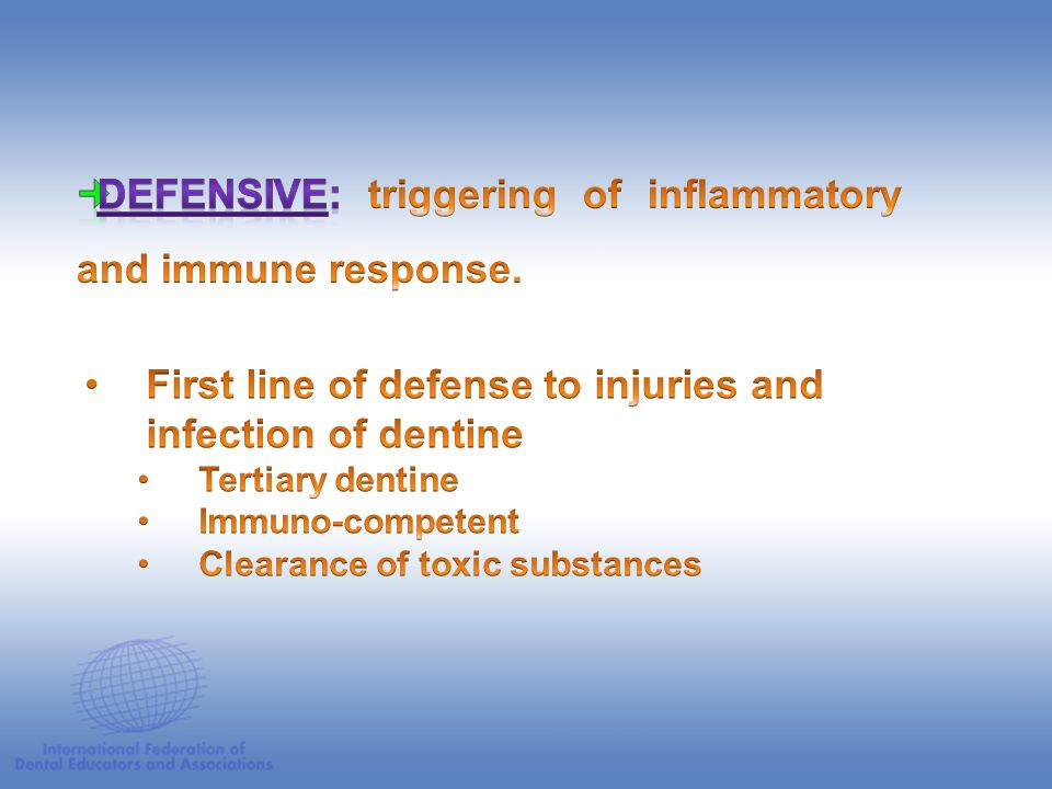 Defensive: triggering of inflammatory and immune response.