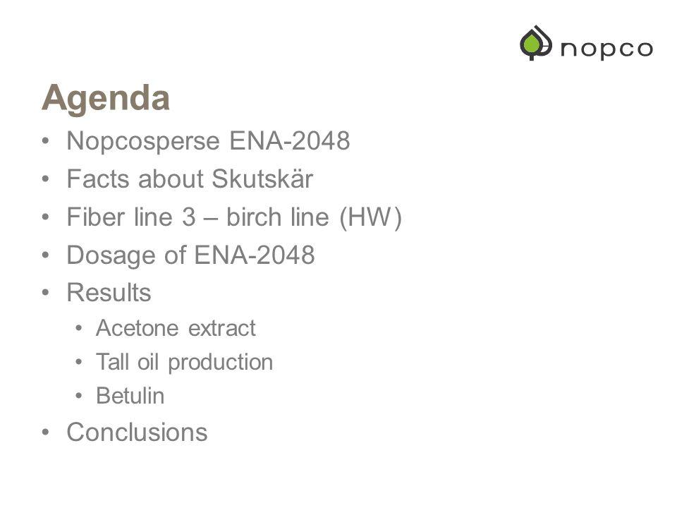 Agenda Nopcosperse ENA-2048 Facts about Skutskär