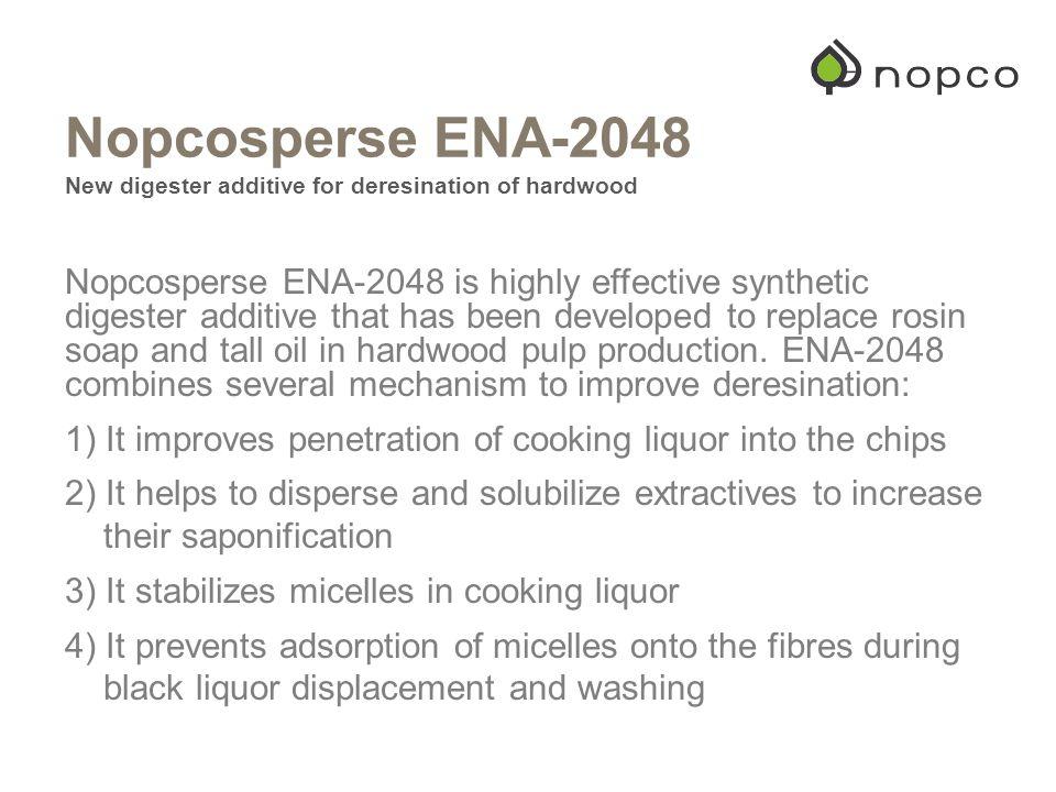 Nopcosperse ENA-2048 New digester additive for deresination of hardwood