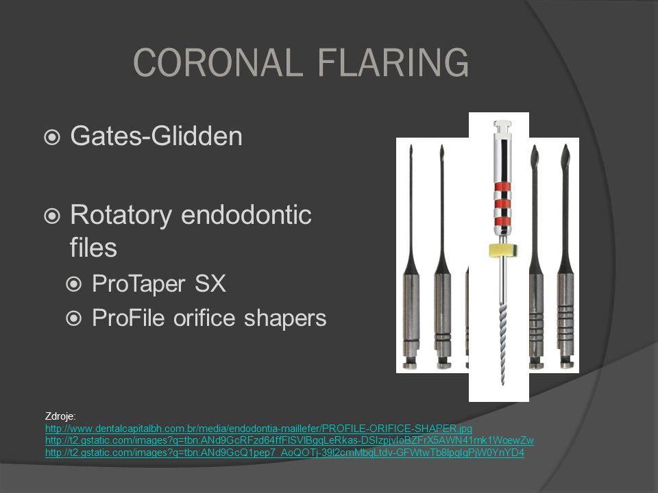 CORONAL FLARING Gates-Glidden Rotatory endodontic files ProTaper SX