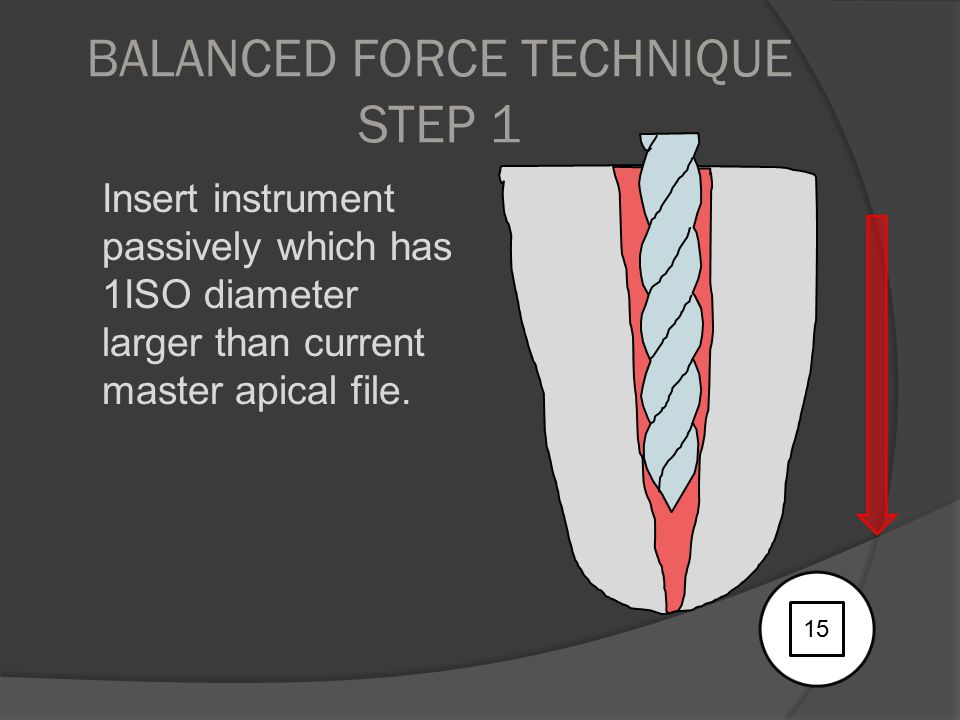 BALANCED FORCE TECHNIQUE STEP 1