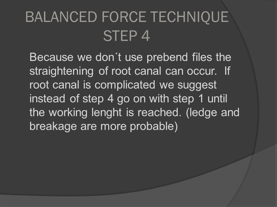 BALANCED FORCE TECHNIQUE STEP 4