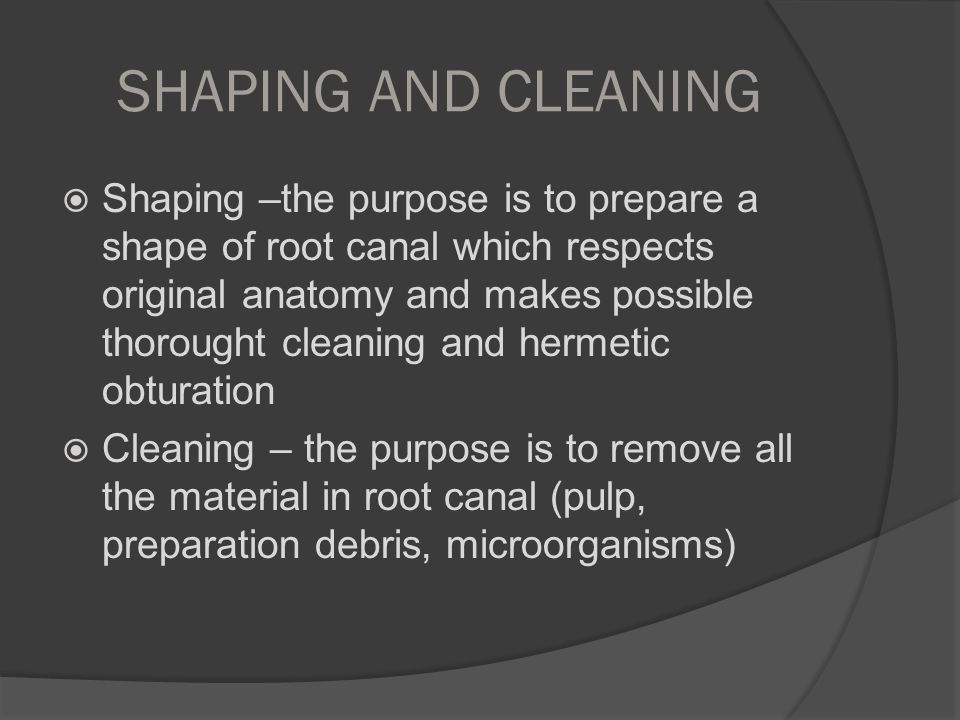 SHAPING AND CLEANING