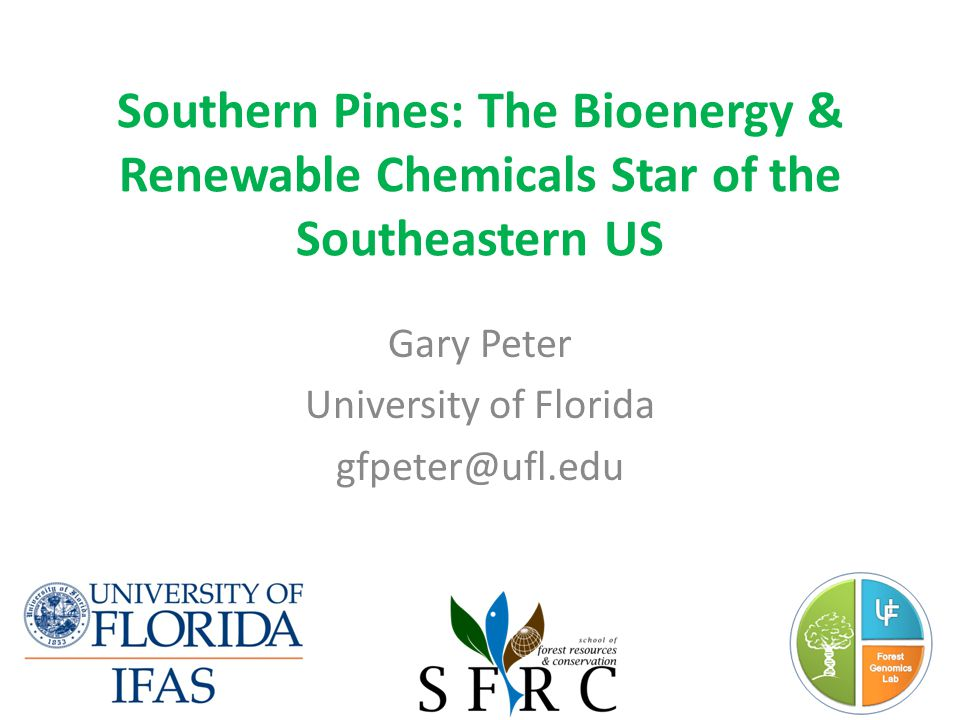 Gary Peter University of Florida gfpeter@ufl.edu