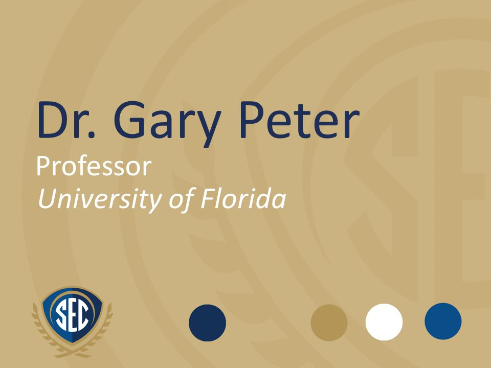Dr. Gary Peter Professor University of Florida
