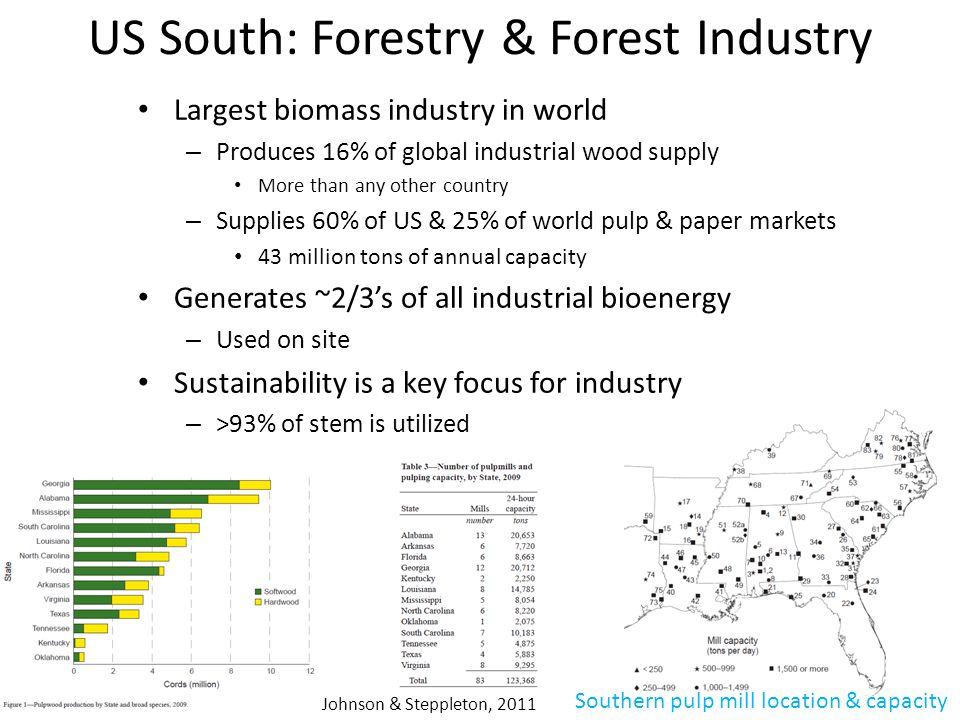 US South: Forestry & Forest Industry
