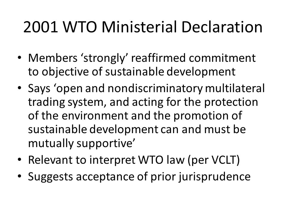 2001 WTO Ministerial Declaration