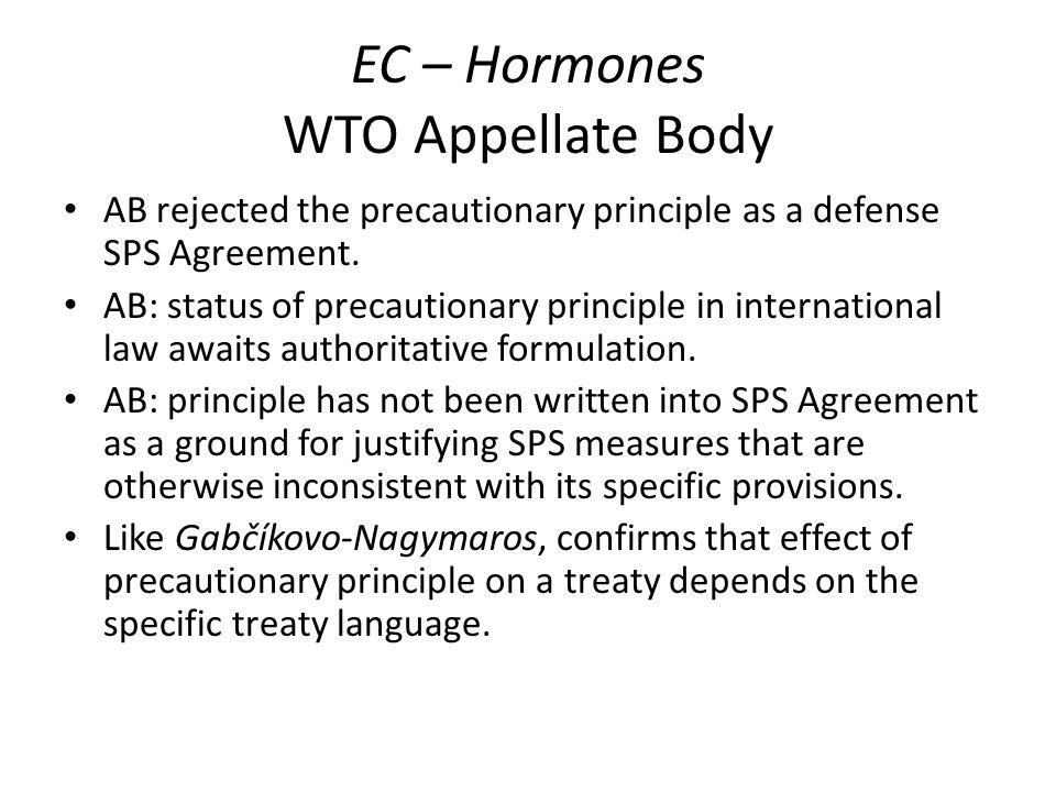 EC – Hormones WTO Appellate Body