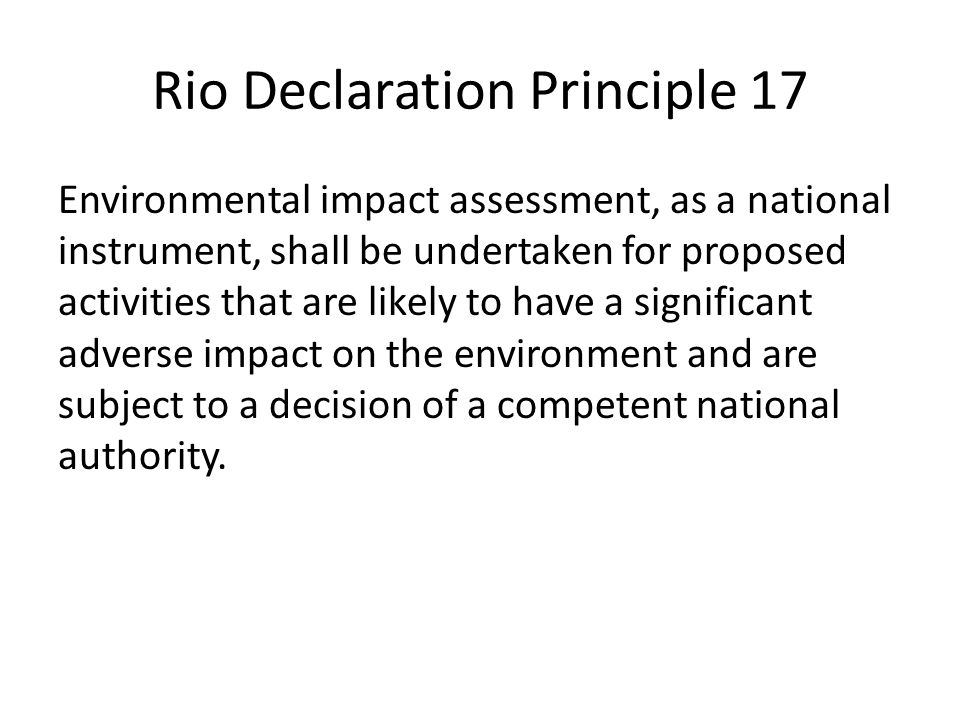 Rio Declaration Principle 17