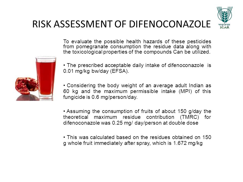 RISK ASSESSMENT OF DIFENOCONAZOLE
