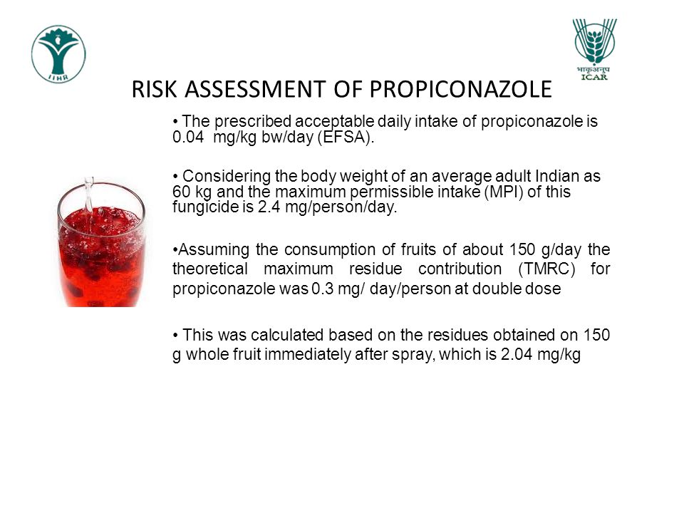 RISK ASSESSMENT OF PROPICONAZOLE