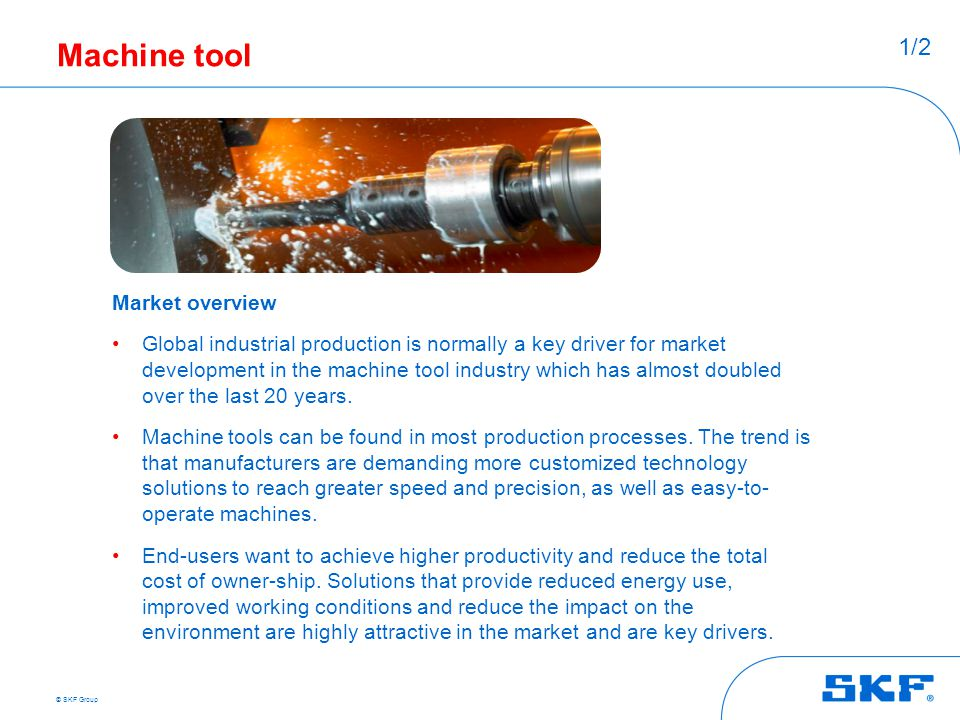 Machine tool 1/2 Market overview
