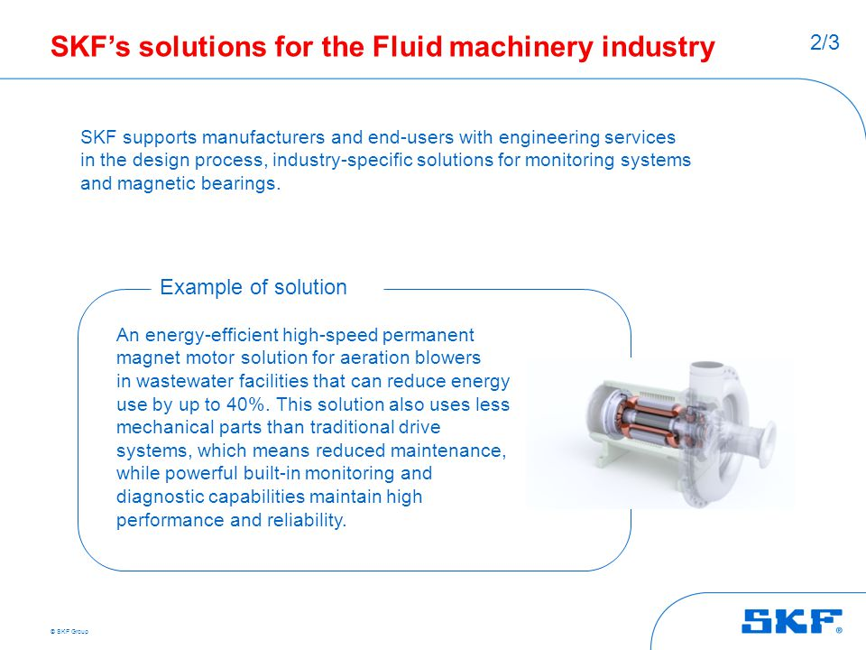 SKF's solutions for the Fluid machinery industry