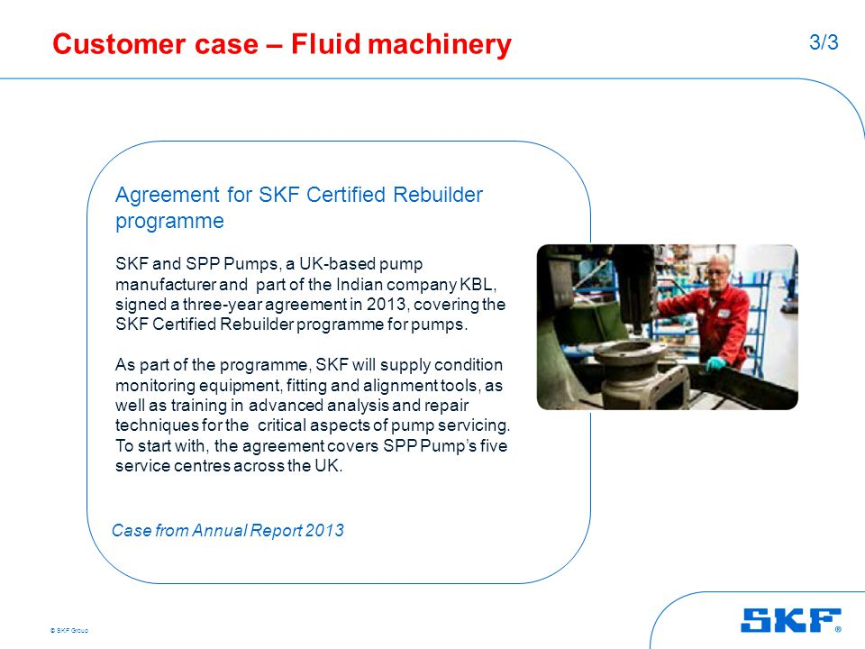 Customer case – Fluid machinery
