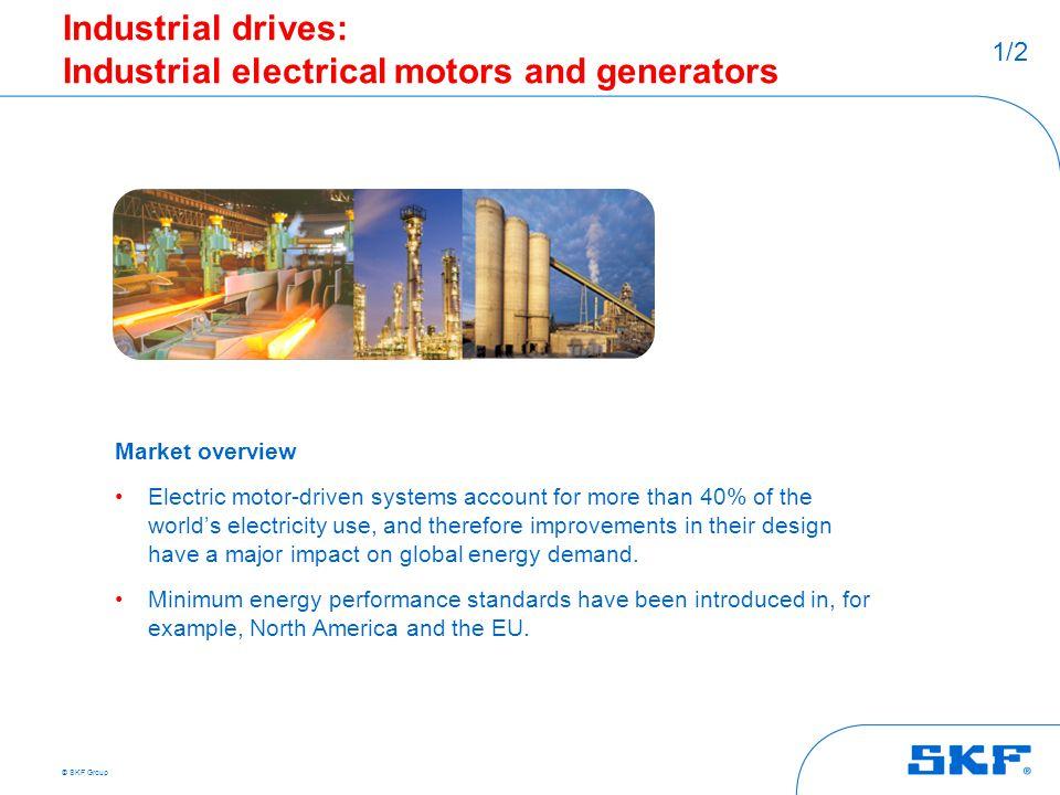 Industrial drives: Industrial electrical motors and generators