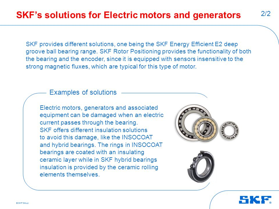 Skf s customer industries ppt download Electric motor solutions