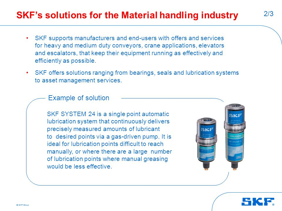 SKF's solutions for the Material handling industry