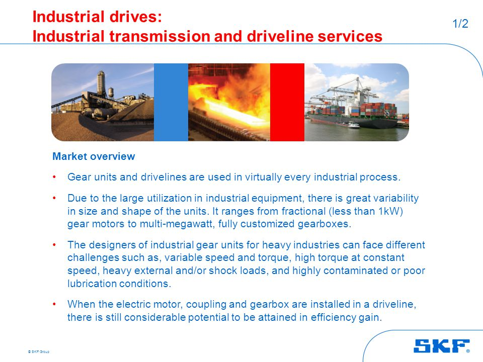 Industrial drives: Industrial transmission and driveline services