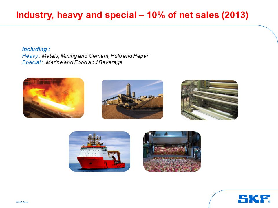Industry, heavy and special – 10% of net sales (2013)