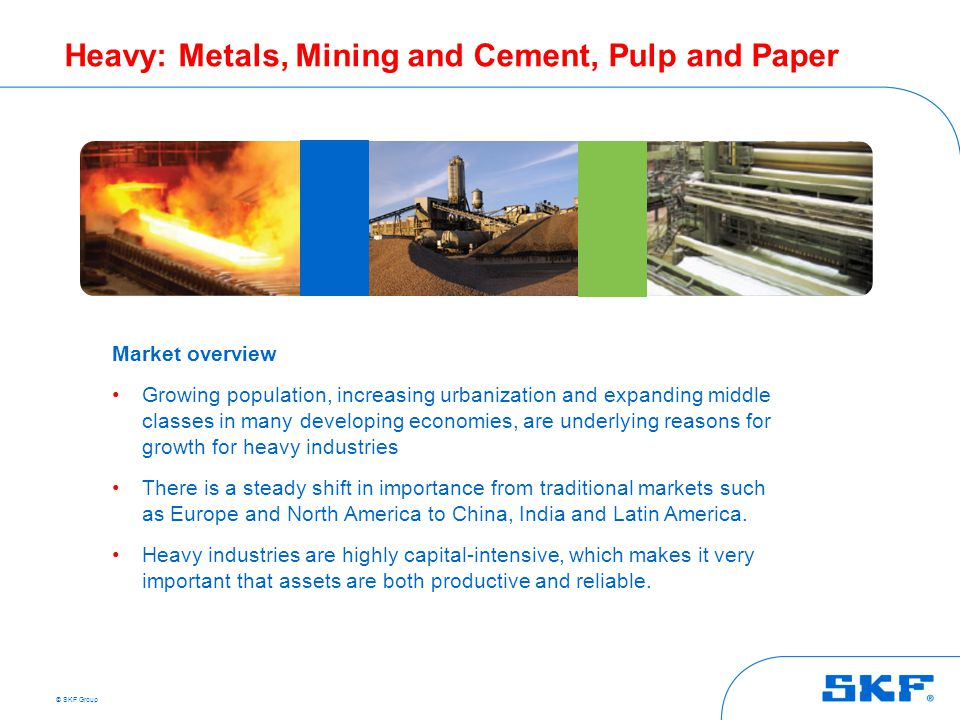 Heavy: Metals, Mining and Cement, Pulp and Paper