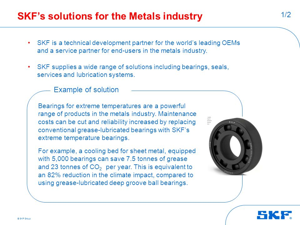 SKF's solutions for the Metals industry