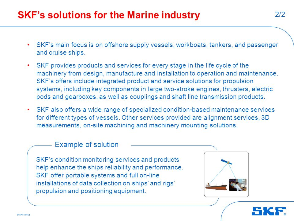 SKF's solutions for the Marine industry
