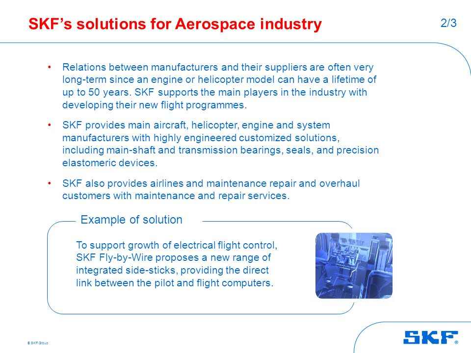 SKF's solutions for Aerospace industry