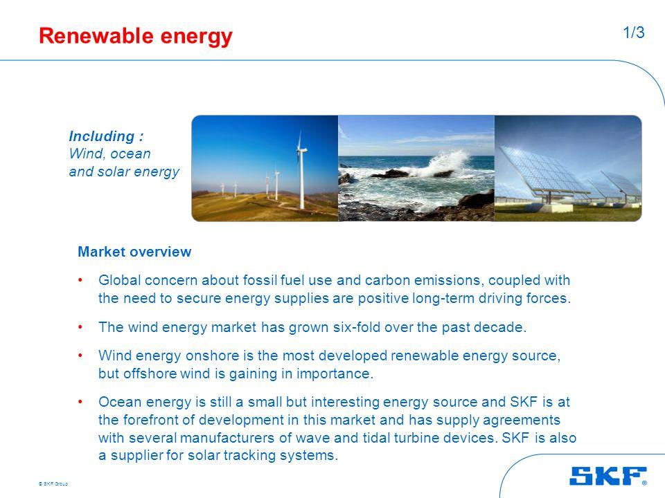 Renewable energy 1/3 Including : Wind, ocean and solar energy