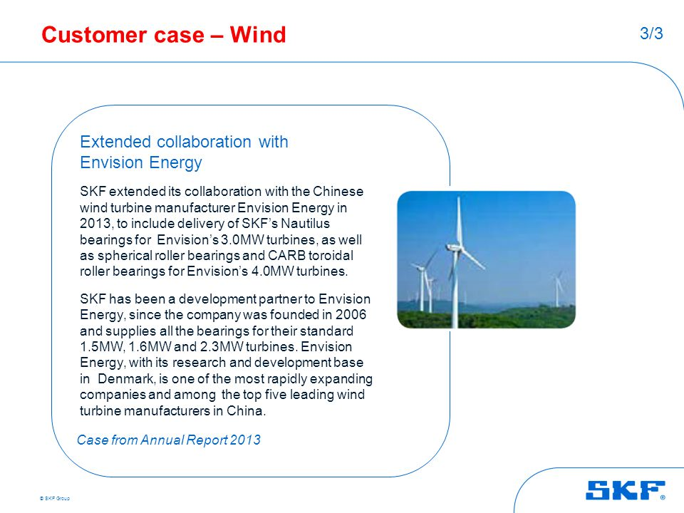 Customer case – Wind 3/3 Extended collaboration with Envision Energy