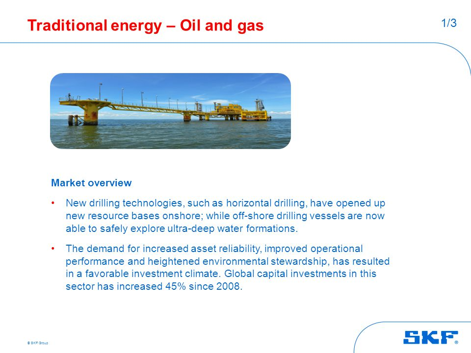 Traditional energy – Oil and gas
