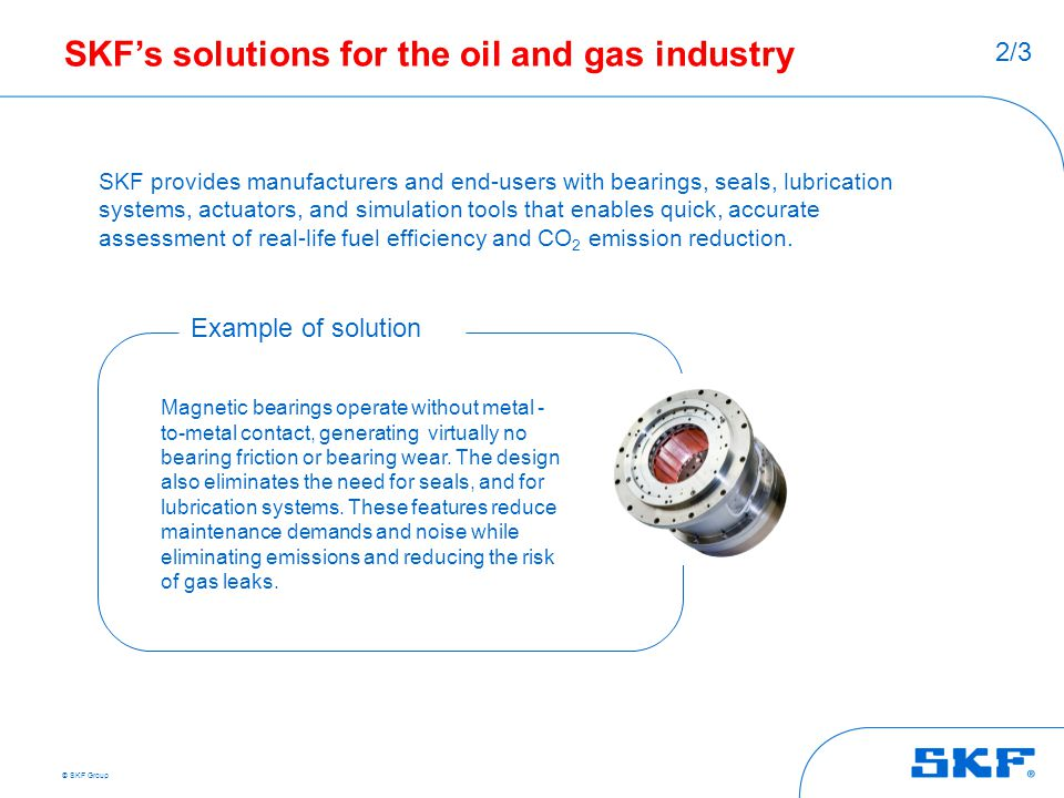 SKF's solutions for the oil and gas industry