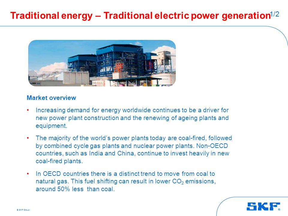 Traditional energy – Traditional electric power generation