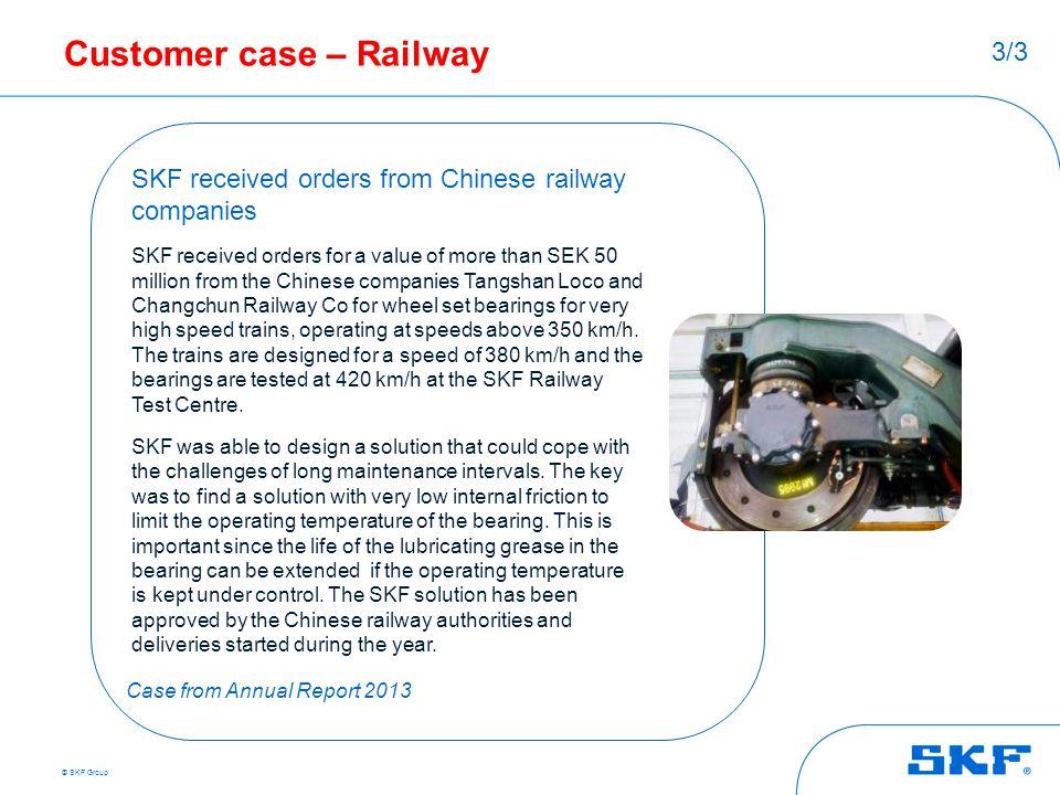 Customer case – Railway