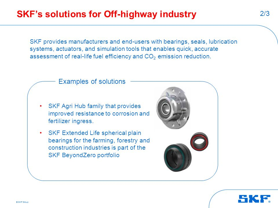 SKF's solutions for Off-highway industry