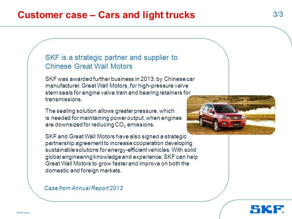 Customer case – Cars and light trucks