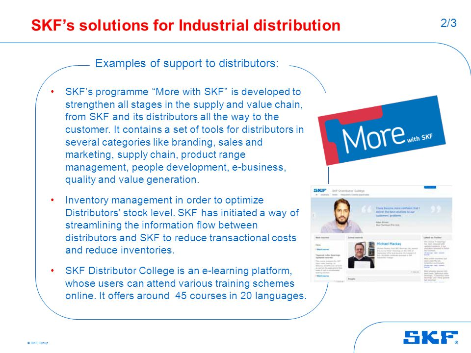 SKF's solutions for Industrial distribution